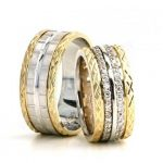 çarpı şekilli nişan yüzüğü modeli