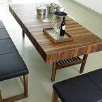 çizgili ahşap mutfak masası modeli