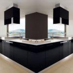 çok güzel siyah beyaz mutfak dolabı