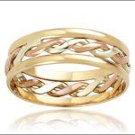 örgü pembe altın nişan yüzüğü modeli