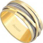 atasay sarı beyaz altın nişan yüzüğü