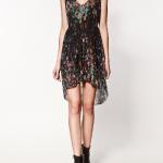 beli lastikliçiçekli elbise modeli