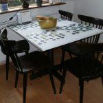 benekli mutfak masası modeli yeni