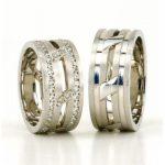 beyaz altın nişan yüzüğü modeli
