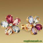 bvlgari renli çiçekli yüzük modeli