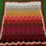 daire motifli renkli bebek battaniyesi