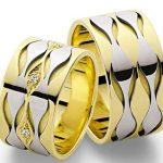 dalga figürlü nişan yüzüğü modeli