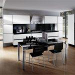 değişik siyah beyaz mutfak dolabı trend