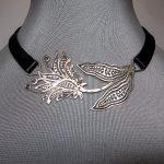 deri metal yapım kolye modeli