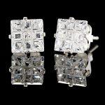 dokuz taşlı kristal küpe modeli