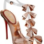 dore ve seffaf kullanılmış fiyonk detaylı gece ayakkabısı