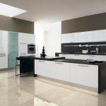 farklı siyah beyaz mutfak dolabı