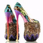 fashion ince topuklu ayakkabı modeli
