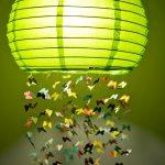 fener görünümlü kelebekli avize modeli