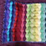 gökkuşağı örgü bebek battaniyesi