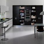göz alıcı güzellikte siyah beyaz mutfak dolabı