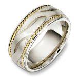 geniş örgü nişan yüzüğü modeli