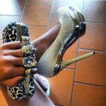 gold gümüş gece ayakkabısı