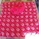 hasır örgü bebek battaniyesi