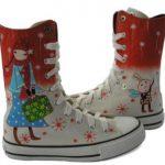 kış konseptli converse çizme