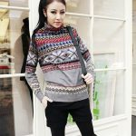kış temalı bayan kazak modeli Sezon Ürünü