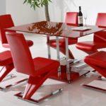 kırmızı mutfak masası modeli yeni