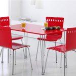 kırmızı parlak mutfak masası
