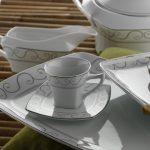 kare model desenli karaca yemek takımı