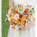 kelebek desenli gelin çiçeği