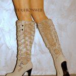 krem tüylü çizme modeli