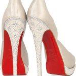 krem topuk detayı işlemeli abiye ayakkabı modeli