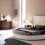 krem yuvarlak yatak modeli