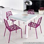 lila beyaz mutfak masası yeni