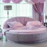 lila yuvarlak yatak modeli tarz