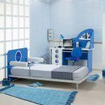 mavi beyaz denizci genç odası