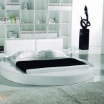 modern yuvarlak yatak modeli beyaz