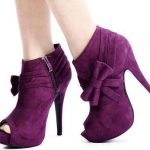 mor süet fiyonklu bot ayakkabı modelleri