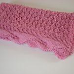 pembe şık bebek battaniyesi