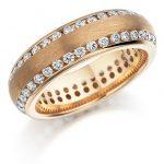 pembe altın taşlı nişan yüzüğü modeli