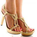 platform topuklu dore tasşı ayakkabılar