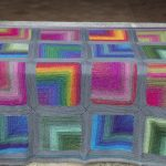 rengarenk örgü bebek battaniyesi