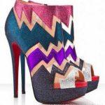 rengarenk bot ayakkabı modeli