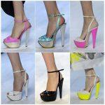 rengarenk platform topuklu ayakkabı modelleri