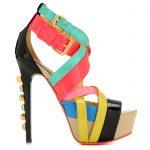 renkli kemerli ayakkabı modeli