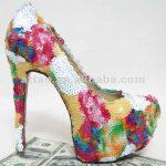 renkli payetli ayakkabı modeli