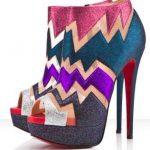 renkli pullu ayakkabı modeli