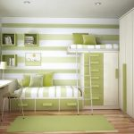 sıra dışı yeşil beyaz fonksyonel genç odası