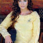 sarı devrik yaka kazak modeli