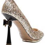 simli topukda fiyonk detaylı abiyegece ayakkabısı