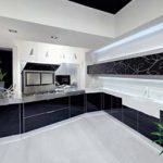 siyah beyaz desenli kapak mutfak dolabı